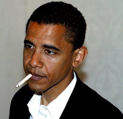 President Obama sparking up